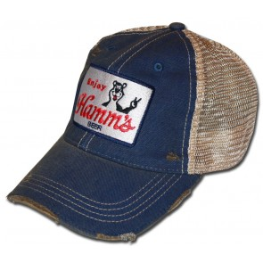 Hamm's Beer Washed Ripped Vintage Hat
