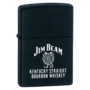 Jim Beam Zippo Lighter : Black Matte Label