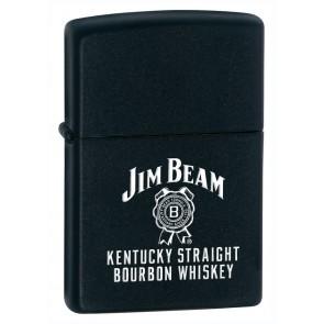 Jim Beam Zippo Lighter : Black Matte Label