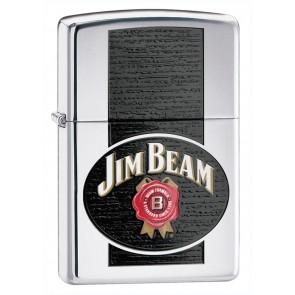 Jim Beam Zippo Lighter : Polished Chrome Button