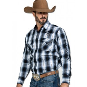 Jack Daniel's Plaid Button Down Western Shirt