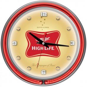 "Miller High Life Neon Clock (14"")"