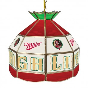Miller High Life Light Fixture : Tiffany Lamp