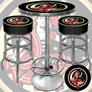 Miller High Life GOTM Bar Stools & Table