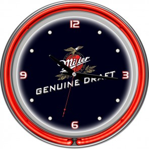 "Miller Genuine Draft Neon Clock (14"")"