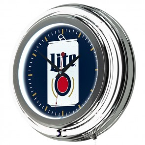 Miller Lite Beer Can Neon Clock