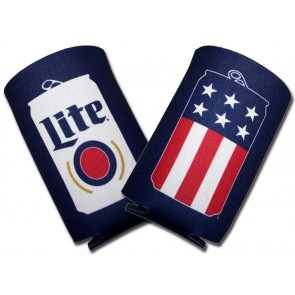 Miller Lite USA Beer Can Collapsible Coozies