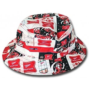 Miller High Life Spread Logos Bucket Hat