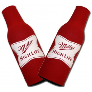Miller High Life Stamped Bottle Suit Coozie Set