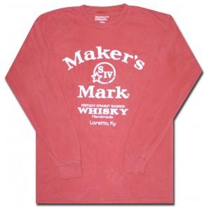 Maker's Mark Whisky Long Sleeve T-Shirt : Coral