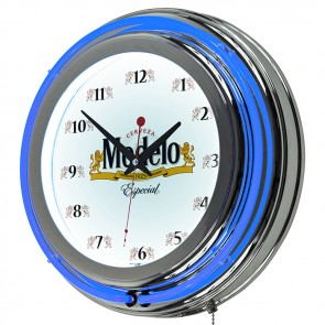 Modelo Especial Chrome Neon Clock