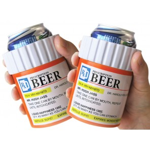 Prescription Bottle Coozie Set