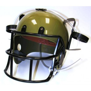 Beer Helmet : Gold Drinking Football Helmet