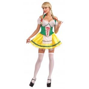 Beer Garden Girl Costume : Green & Yellow