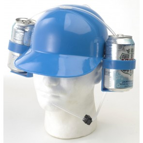 Beer Helmet : Blue Beer Drinking Hat