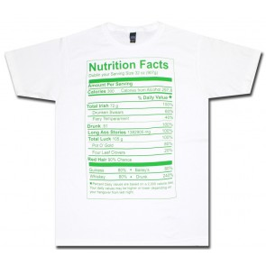 St. Patrick's Irish Nutritional Label T Shirt