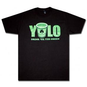 St. Patrick's 'YOLO Drink Til' Green' T Shirt