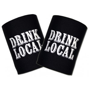 Beer Koozies : Drink Local Can Cooler Set