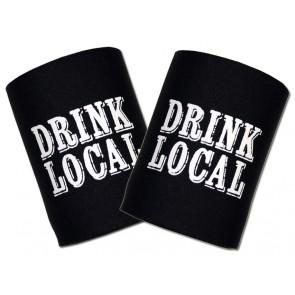 Beer Koozies : Drink Local Can Cooler Set
