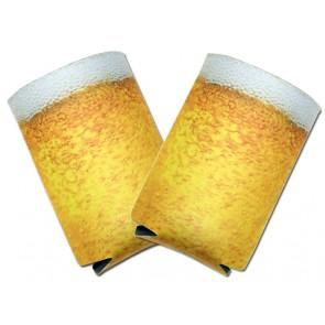 Beer Koozies : Beer Foam Collapsible Coolie Set