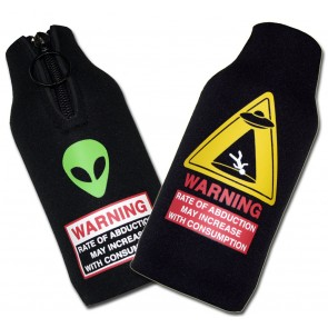 Alien Abduction Bottle Suit Coozie Set