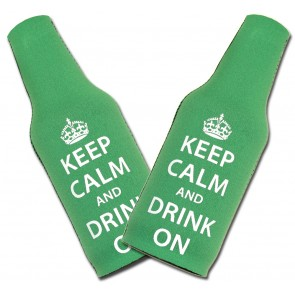 """Keep Calm Drink On"" Bottle Coozie Set"