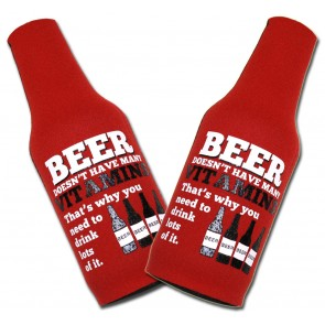 Beer Vitamins Bottle Suit Koozie Set