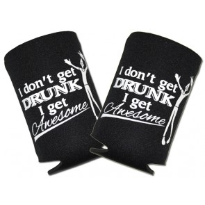 Awesome Drunk Collapsible Koozie Set