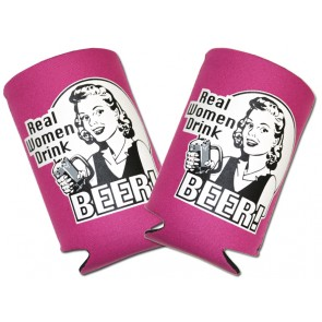 """Real Women Drink Beer"" Collapsible Koozie Set"