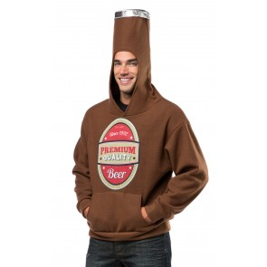 Beer Bottle Costume Hooded Sweatshirt