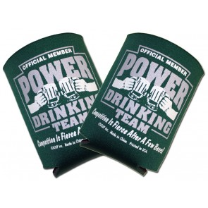 Power Drinking Team Collapsible Coozie Set