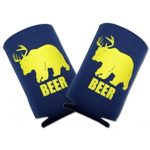 Half Deer Half Bear BEER Collapsible Coozie Set