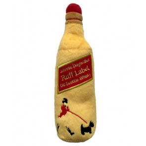 Johnnie Dogwalker Bottle Plush Squeaker Dog Toy