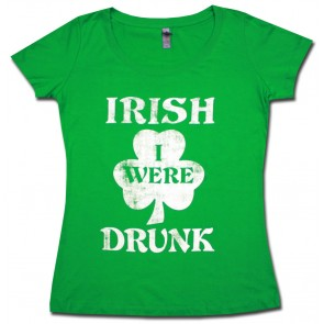 Irish I Were Drunk Women's Babydoll Shirt