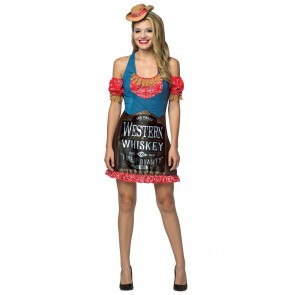 Western Whiskey Dress Women's Costume