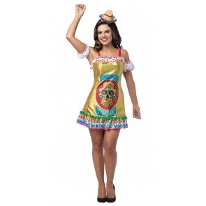 Craneo Maerto Tequila Dress Women's Costume