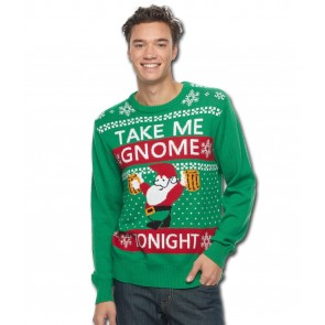 Take Me Gnome Ugly Christmas Sweater