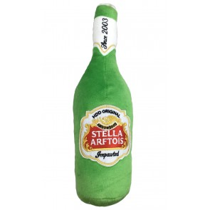 Stella Arftois Beer Plush Squeak Dog Toy