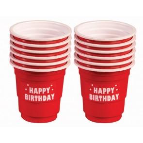 Happy Birthday Red Mini Shot Cups