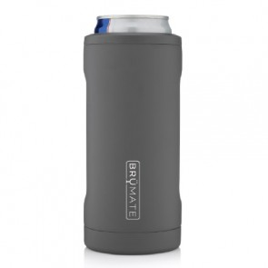BruMate Hopsulator Slim Grey Can Coozie