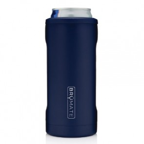 BruMate Hopsulator Slim Blue Can Coozie