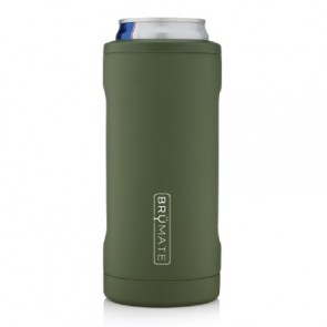 BruMate Hopsulator Slim Green Can Coozie