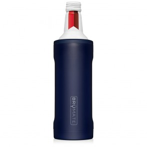 BruMate Twist Navy 16oz Alum Bottle Coozie