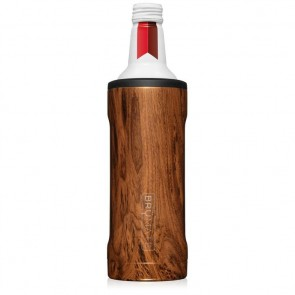 BruMate Twist Walnut 16oz Alum Bottle Coozie