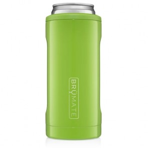 BruMate Hopsulator Slim Electric Green Can Coozie