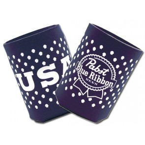 Pabst Blue Ribbon USA Collapsible Koozie Set