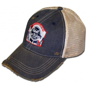 Pabst Blue Ribbon Washed Retro Hat