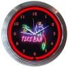 Tiki Bar Neon Clock : Parrot Beach