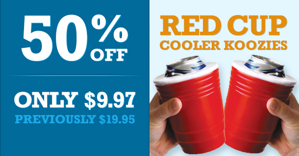 50% Off Red Solo Cup Koozies